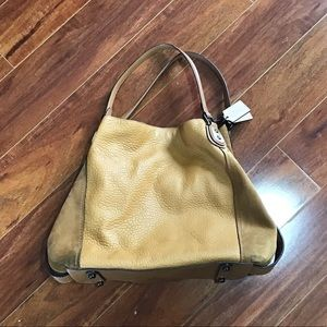 Coach | Edie Mixed Leather Bag